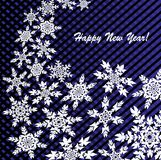 New Year`s or Christmas background with snowflakes. New Year`s or Christmas abstract background with snowflakes Royalty Free Stock Image