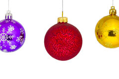 New Year`s or Christmas balls are suspended Royalty Free Stock Photo