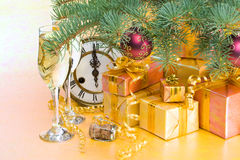New Year's and Christmas decoration Royalty Free Stock Photos