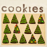 New Year's and Christmas gingerbread trees (ginger and honey coo Stock Photography