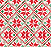New Year`s Christmas pattern pixel for print. 2018 Stock Images