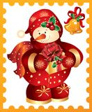 New Year's, christmas symbol . Postmark Royalty Free Stock Photos