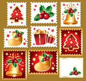 New Year's, christmas symbols and elemnts Stock Photography
