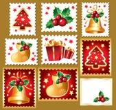 New Year's, christmas symbols and elemnts Stock Photography