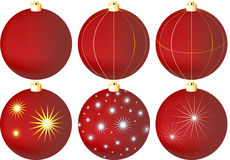 New Year's Christmas-tree decorations Royalty Free Stock Images
