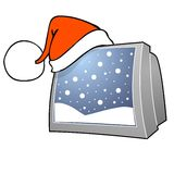New Year's or Christmas TV program Stock Photography