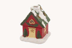 New Year's clay small house. Isolated stock photography