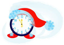 New Year's clock Royalty Free Stock Photography
