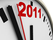 New Year's clock. On white background. 3d render Stock Image