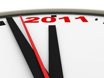 New Year's clock Stock Photography