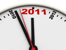 New Year's clock. On white background. 3d render Royalty Free Stock Photos