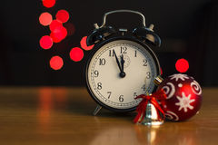 New year's clock Royalty Free Stock Image