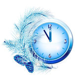 New Year's clock Stock Images