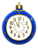New Year's clock on white background Royalty Free Stock Photography