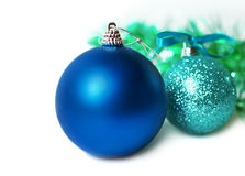 New Year's colorful christmas decorations. Royalty Free Stock Photos