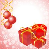 New Year's composition with a gifts. New Year's composition with gifts on a light background Royalty Free Stock Photos