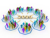 New year's concept. Man share experience in business for 2009 Stock Illustration