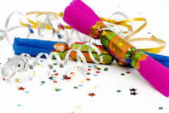 New Year's crackers Stock Image