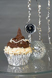 New Year's cupcake Stock Photography