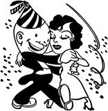 New Year's Dance Couple stock illustration