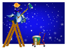 The New Year's Dark blue Dragon. Carries out any is repair-civil work for creation of a cosiness of your house in new 2012 Stock Illustration