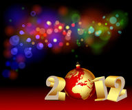New Year's date. Illustration of New Year's date in the festive background royalty free illustration