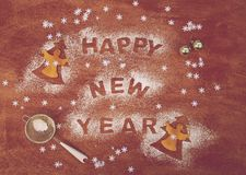 New Year's Day background Stock Image