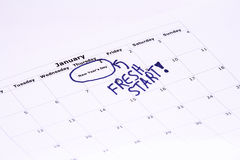 New Year's Day - Fresh Start. Stock Photos