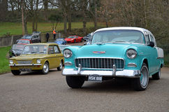 2016 New Year's Day gathering of classic car's at Brooklands. Stock Photos