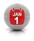 New year's day icon Stock Image