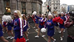 2015, New Year's Day Parade, London stock video