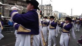 2015, New Year's Day Parade, London stock video footage