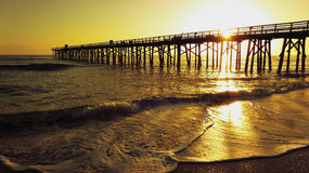 New Year`s Day Sunrise in Beach Stock Photography