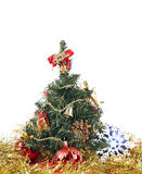 New year's decoration. Under artificial fir tree Stock Image