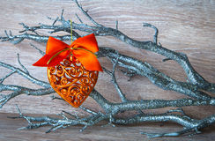 New Year's decoration as a heart Royalty Free Stock Photos