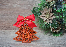 New Year's decoration as a pine tree Stock Photo
