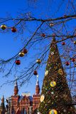 New Year's decoration of Red Square in Moscow, Russia Royalty Free Stock Photos