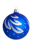 New Year's decorations - painted blue glass bowl  Stock Photos
