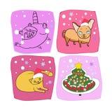 New Year`s design, pet royalty free illustration