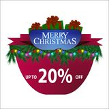 New Year`s discount banner stock illustration