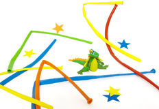 The New Year's dragon is made of plasticine. Stock Photo