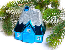 New Year's dream of own house.Still-life on a white background Stock Photo