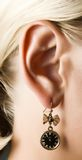 New Year's earring Royalty Free Stock Photo