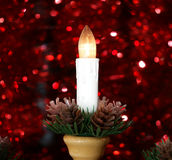 New Year's electric candles Stock Photography