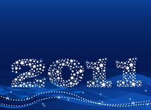 New Year's Eve. Background made of stars Royalty Free Stock Photos