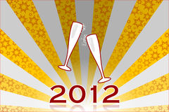 New Year's Eve 2012. Clinking glasses royalty free illustration