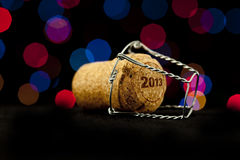 New Year's Eve. Champagne cork new year's 2013 Stock Photos