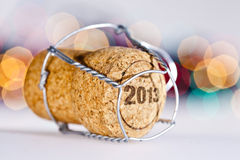 New Year's Eve. Champagne cork new year's 2013 Royalty Free Stock Photography