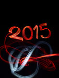 New Year's Eve 2015 with Abstract Lights Royalty Free Stock Image