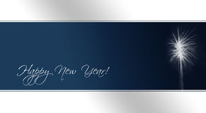 New Year's Eve Card (text paths included) Royalty Free Stock Photo